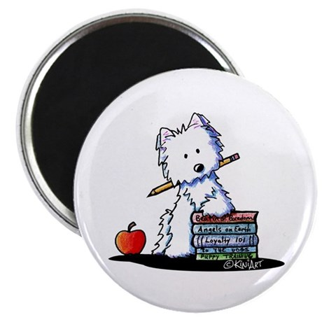 "Back To School Westie 2.25"" Magnet (10 pack)"