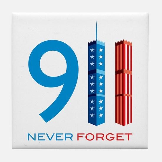 911 - Never Forget Tile Coaster