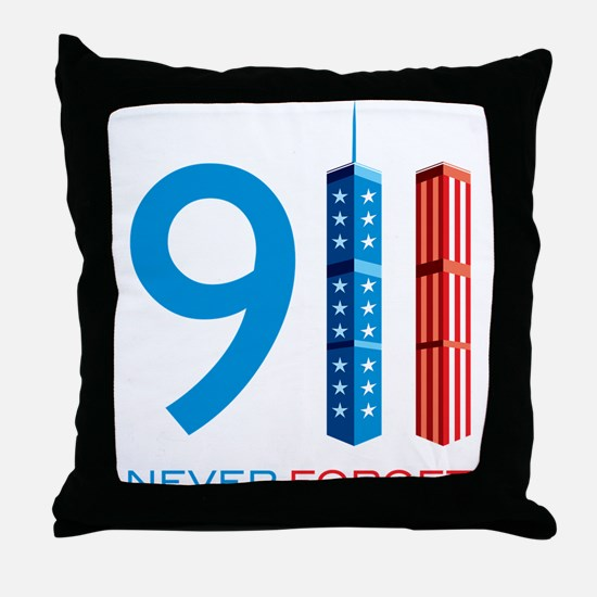 911 - Never Forget Throw Pillow