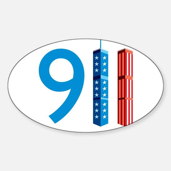 911 - Never Forget Sticker (Oval)