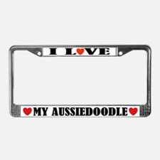 I Love My Aussiedoodle License Frame