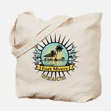 Fort Myers Tropical Scene Tote Bag