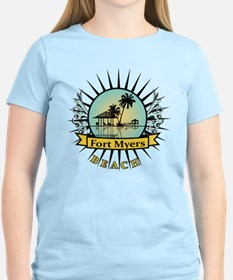 Fort Myers Tropical Scene T-Shirt