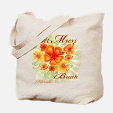 Fort Myers Beach Flowers Tote Bag