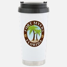 Fort Myers Palm Trees Stainless Steel Travel Mug