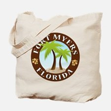 Fort Myers Palm Trees Tote Bag