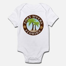 Fort Myers Palm Trees Infant Bodysuit