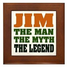 JIM - The Legend Framed Tile