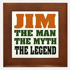 JIM - The Legend Framed Tile
