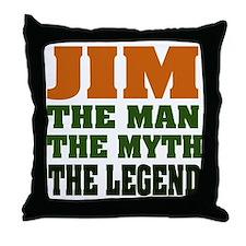 JIM - The Legend Throw Pillow