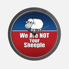 We Are NOT Sheeple Wall Clock