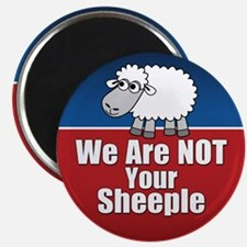 """We Are NOT Sheeple 2.25"""" Magnet (10 pack)"""