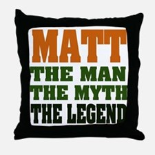MATT - The Legend Throw Pillow
