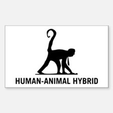 Human-Animal Hybrid Rectangle Decal
