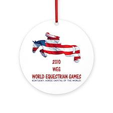 Jumper World Equestrian Games Ornament (Round)