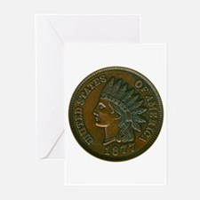 The Indian Head Penny Greeting Cards (Pk of 10)