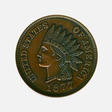"The Indian Head Penny 3.5"" Button"