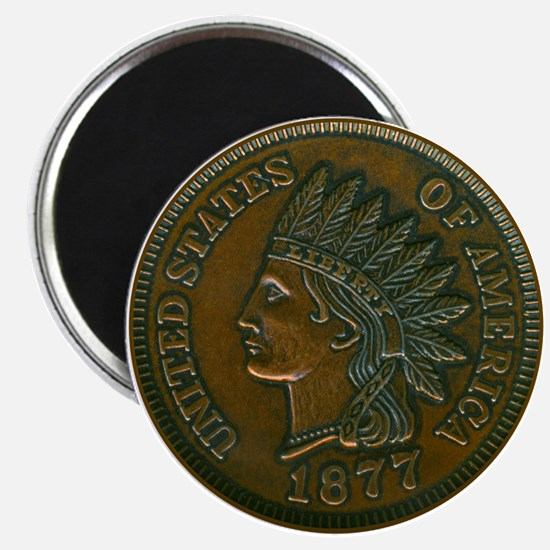 The Indian Head Penny Magnet