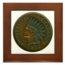 The Indian Head Penny Framed Tile