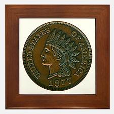 The Indian Head Penny Framed Tile