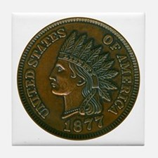 The Indian Head Penny Tile Coaster