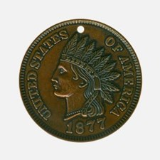 The Indian Head Penny Ornament (Round)