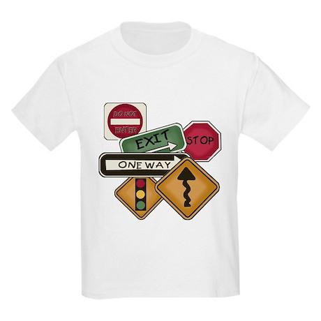 Road Signs Kids Light T-Shirt