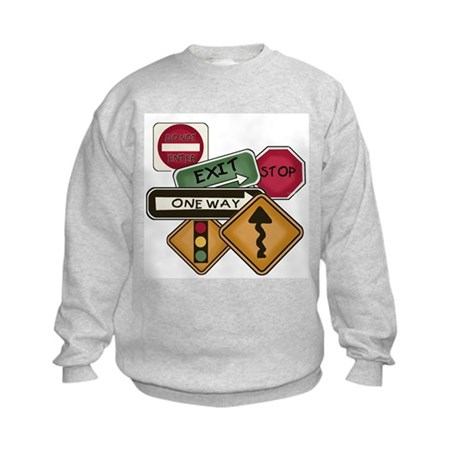 Road Signs Kids Sweatshirt