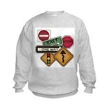 Do not stop tracks 1 sign kids Crew Neck