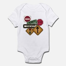 Road Signs Infant Bodysuit