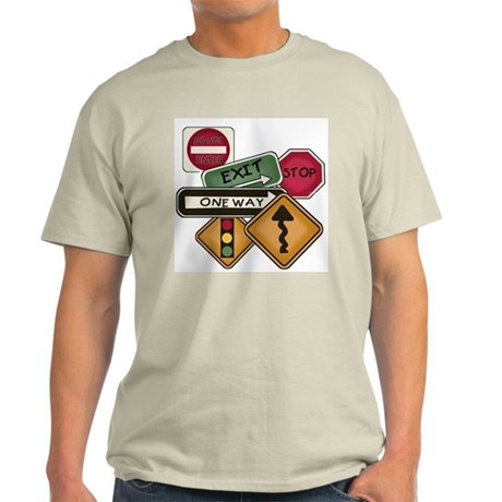 Road Signs Light T-Shirt