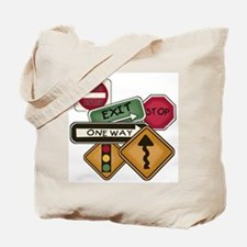 Road Signs Tote Bag