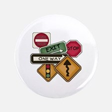 "Road Signs 3.5"" Button"