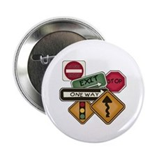 """Road Signs 2.25"""" Button"""