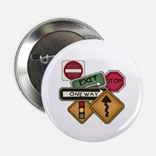 """Road Signs 2.25"""" Button (100 pack)"""