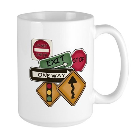 Road Signs Large Mug