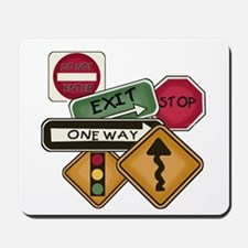 Road Signs Mousepad