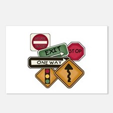 Road Signs Postcards (Package of 8)