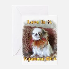 Unique Japanese chin Greeting Card