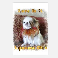 Cute Japanese chin Postcards (Package of 8)