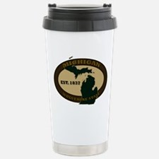 Michigan Est. 1837 Stainless Steel Travel Mug