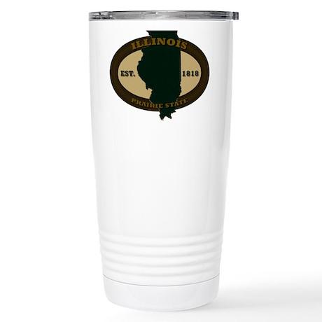 Illinois Est. 1818 Stainless Steel Travel Mug