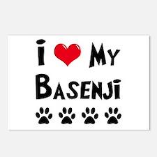 Basenji Postcards (Package of 8)