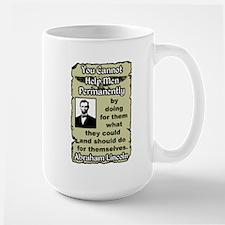"""""""Lincoln: Help Yourself!"""" Large Mug"""