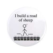 """Road of Sheep 3.5"""" Button"""