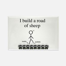 Road of Sheep Rectangle Magnet