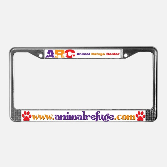 Cute The pet rescue center License Plate Frame