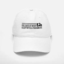 Feel Safe At Night Sleep With A Paramedic Baseball Baseball Cap