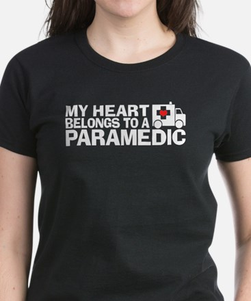 My Heart Belongs To A Paramedic Women's Dark T-Shi