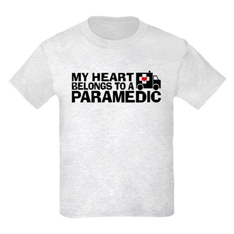 My Heart Belongs To A Paramedic Kids Light T-Shirt
